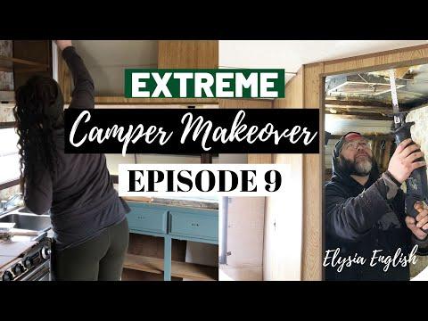 Extreme Camper Makeover | Total Bathroom Gut | Hardware Upgrade | Episode 9