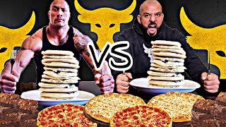The Rock Cheat Day Challenge In One Meal ‎🥞 تحدي ذا روك في وجبة وحده