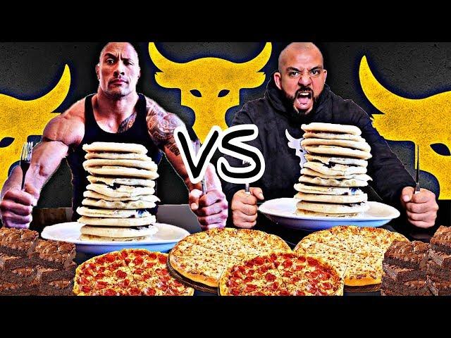 The Rock Cheat Day Challenge In One Meal 🥞 تحدي ذا روك في وجبة وحده