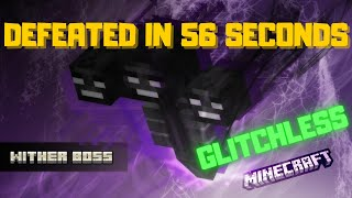 Minecraft but i Beat the Wither in 56 seconds 1.16 TAS