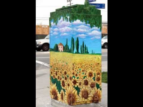 Tuscan Landscape Utility Box Mural For The City Of Long Beach