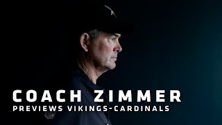 Zimmer on Barr's Play vs. Eagles, Brilliance of Thielen-Diggs Duo, Challenges vs. Arizona | Vikings