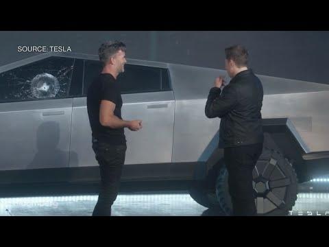 Hudson - Watch the Tesla Cybertruck's Windows Get Smashed