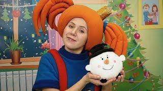 Поиграйка с Царевной - Лепим снеговика! Новогодние мультики - Развивающее видео