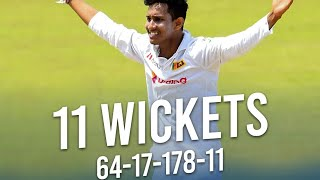 Praveen Jayawickrama 11/178 | Wickets Compilation | Best match figures by a Sri Lankan on Test debut