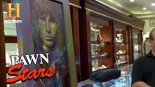 Stars Jim Morrison Door Painting
