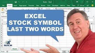 Learn Excel - Stock Symbol (Last 2 Words) Duel 140