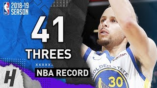 Most Threes Made in a NBA Game - Warriors vs Kings - 41 Threes - NBA RECORD!