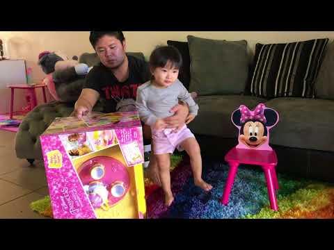 Disney Princess Belle Musical Tea Party Cart / Pretend Tea Time / Toy Unboxing