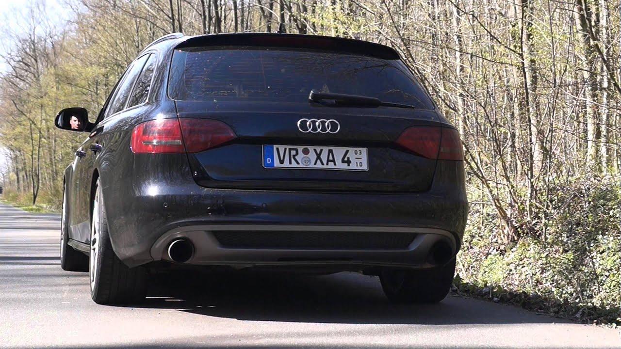 Audi A4 30 Tdi Sound Klappenauspuff Youtube