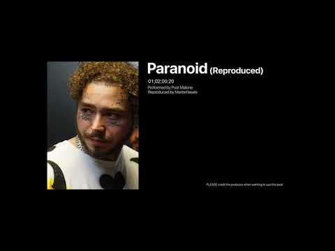 Post Malone - Paranoid  Reproduced with another beat