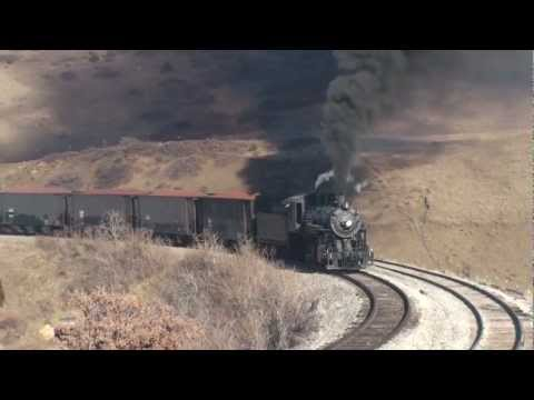 USA - San Luis & Rio Grande 8 - Steam Freight Train - October 2012