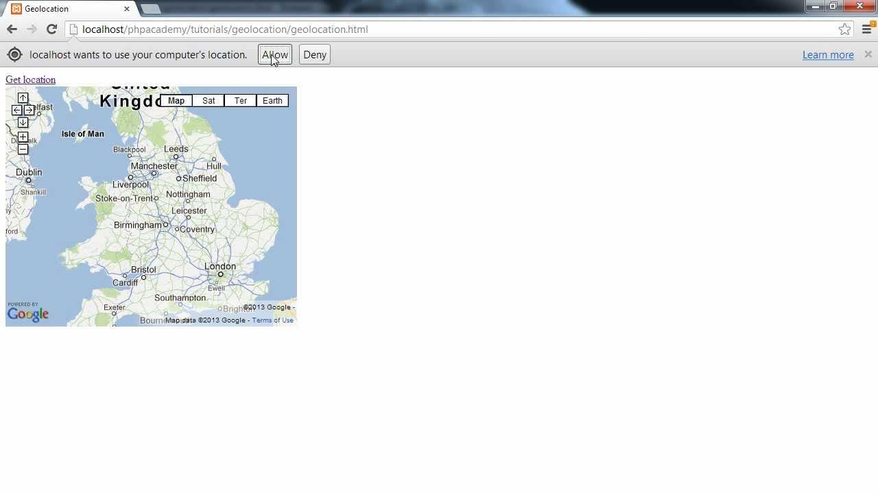 html location