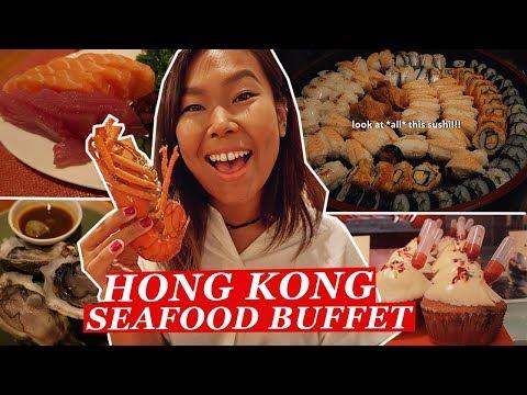 $688 ALL YOU CAN EAT Luxury Buffet in Hong Kong   Hong Kong Food Tour/Travel Vlog