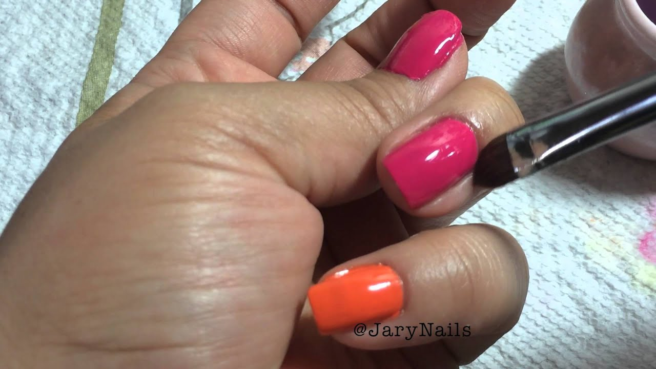 Nail Clean up with Flat Brush. Removing Nail Polish from skin - YouTube