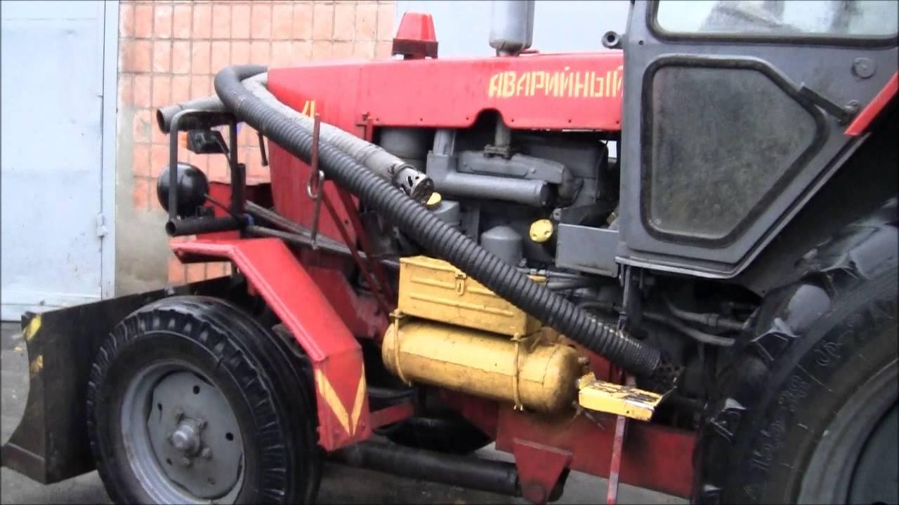 Вспашка земли тракторами МТЗ с навесным плугом - YouTube