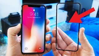 iPhone X Invisible Glass Case - Almost Perfectly Clear!!