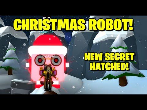 New Secret Christmas Robot Hatched! - Bubble Gum Simulator Roblox
