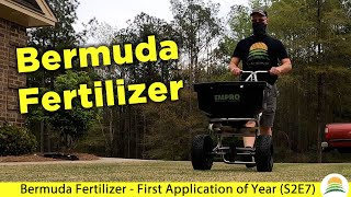 Bermuda Fertilizer - First Application of Year ☀️ (S2E7)
