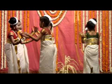 Thiruvathira played by kids (kaithapoo)
