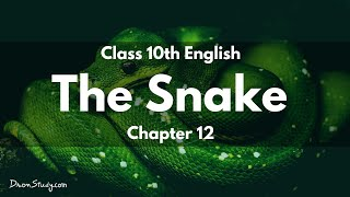 Snake : Class 10 X CBSE English Video Lectures