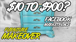 FB Marketplace Painted Furniture Makeover Inspiration - $10 to $900?