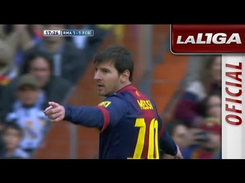 Gol de Lionel Messi (1-1) tras error defensivo del Real Madrid