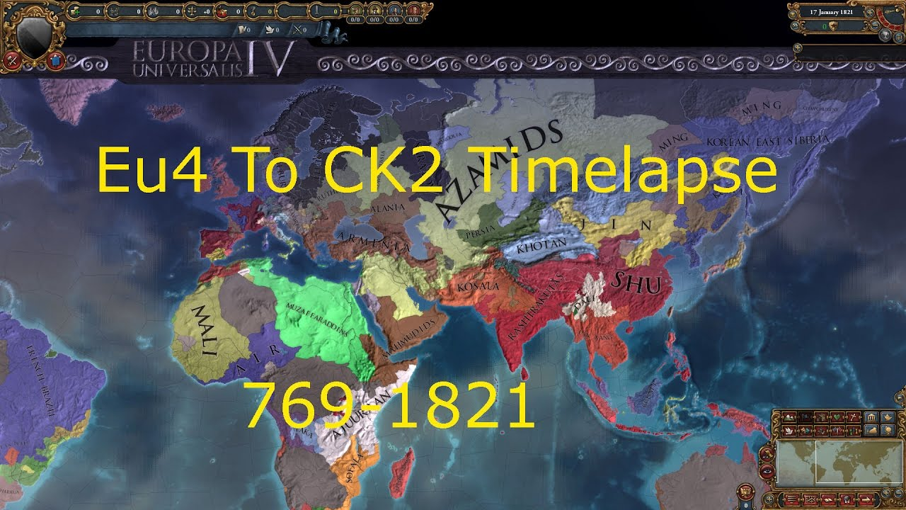 Repeat CK2 To EU4 Timelapse 769-1821 by WonderProductions