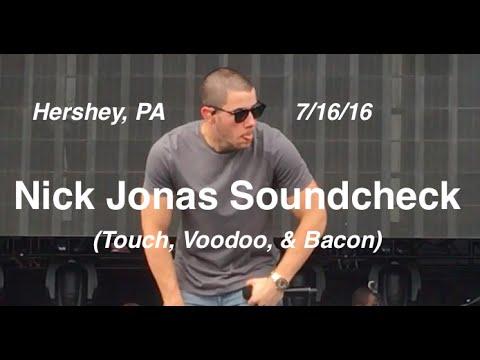Download Nick Jonas Soundcheck - Hershey 7/16/16 - (Touch, Voodoo, Bacon)