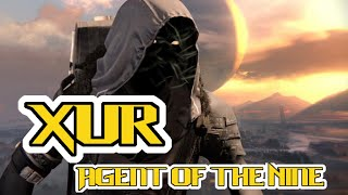 destiny xur september 4 where is xur 9 4 2015 exotic weapons inventory location