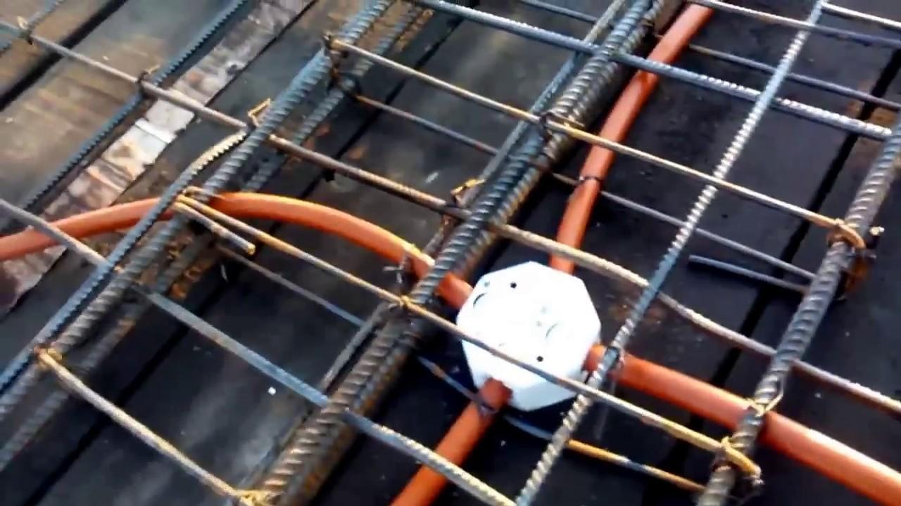 Instalando poliducto naranja para una losa de concreto - Cable instalacion electrica ...