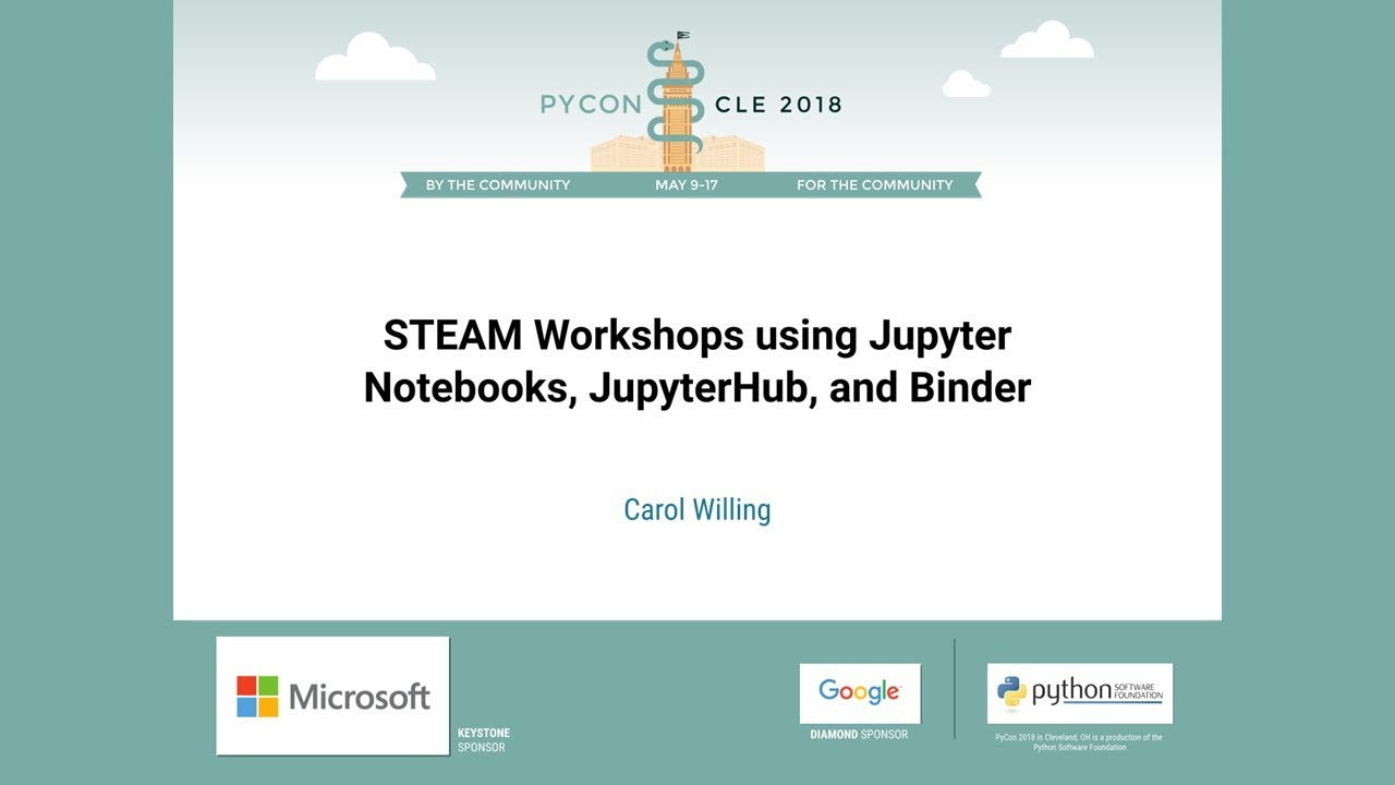 Image from STEAM Workshops using Jupyter Notebooks, JupyterHub, and Binder