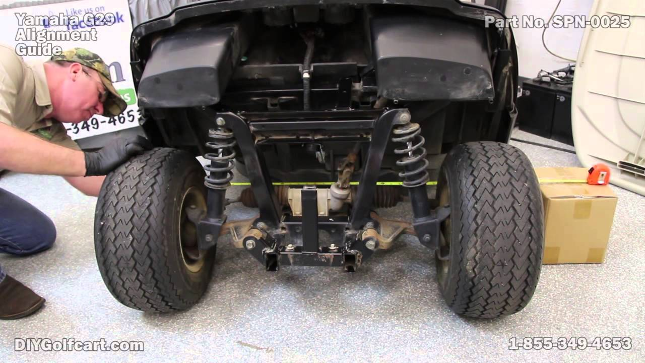 How to Align a Yamaha G29 Drive | Alignment on Golf Cart