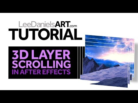 After Effects Tutorial | 3D Layer Scrolling