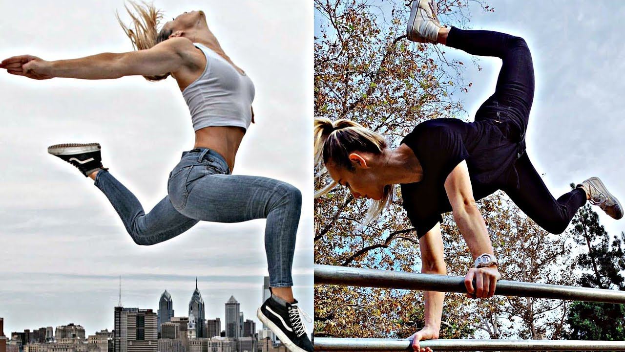 STRONG AND FLEXIBILE CALISTHENICS GIRL