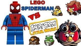 Lego Spiderman Vs Angry Birds Star Wars