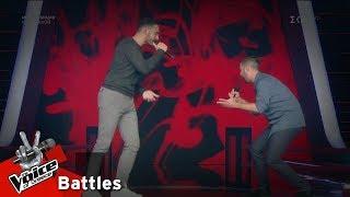 Κωνσταντίνος Αγγελόπουλος vs Αιμίλιος Μωσαΐδης - Μη γυρίσεις | 2o Battle | The Voice of Greece