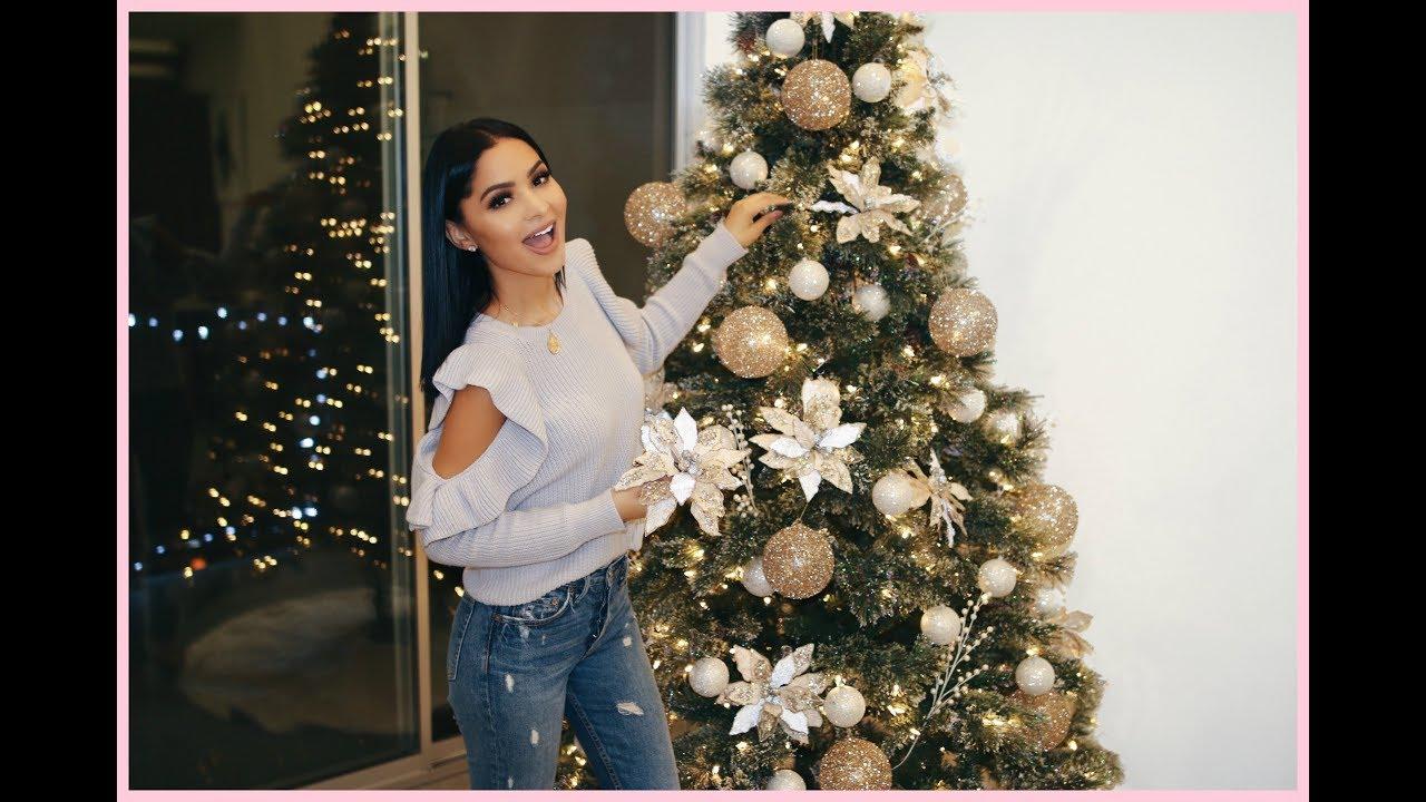 Christmas Tree Near Me.Decorate With Me Christmas Tree Glam 2017 Diana Saldana