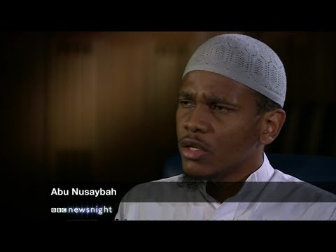 Newsnight's dramatic interview with Abu Nusaybah, minutes before he was arrested - Newsnight