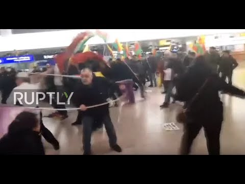 Germany: 180 involved in Turk vs. Kurd fistfight in Hannover Airport