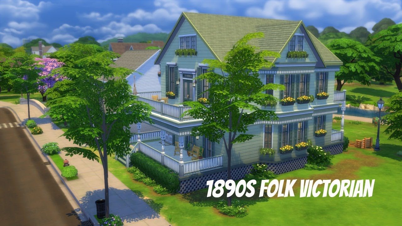 The Sims 4 Decades Challenge 1890s Folk Victorian Youtube