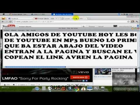 Como descargar musica mp3 de youtube