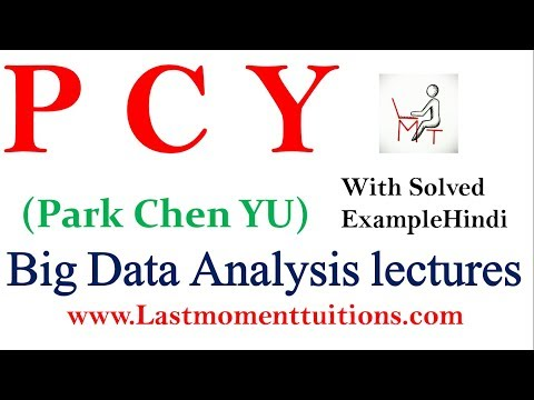 Big Data Analytics Lectures : PCY ( park chen yu) algorithm  Solved Example in Hindi
