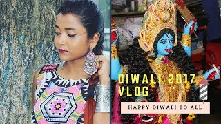 Diwali 2017 Vlog | Kali Puja At Home | OOTD | Indian Festival Preparation | Day in My Life