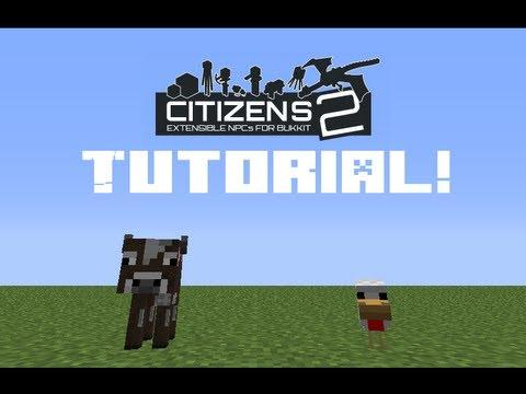 #103 Установка плагина Citizens 2 (часть 1) для minecraft сервера