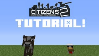 How to use Citizens 2 plugin for your Minecraft server!