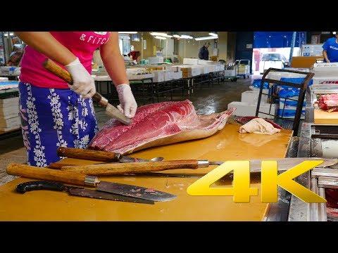 Shiogama Fish Market - Miyagi - 塩釜水産物仲卸市場 - 4K Ultra HD