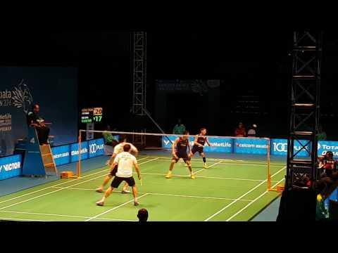Koo Kien Kiat dan Tan Boon Heong vs Kamura/Sonoda Nice Angle Badminton