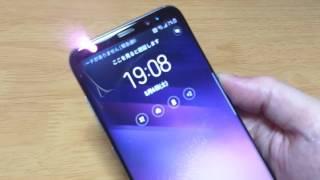 Galaxy S8 虹彩認証のデモ
