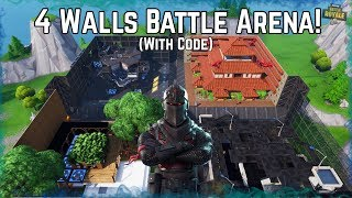 WALL WARS Battle Arena! Published with a Code. Fortnite Creative Epic Builds!